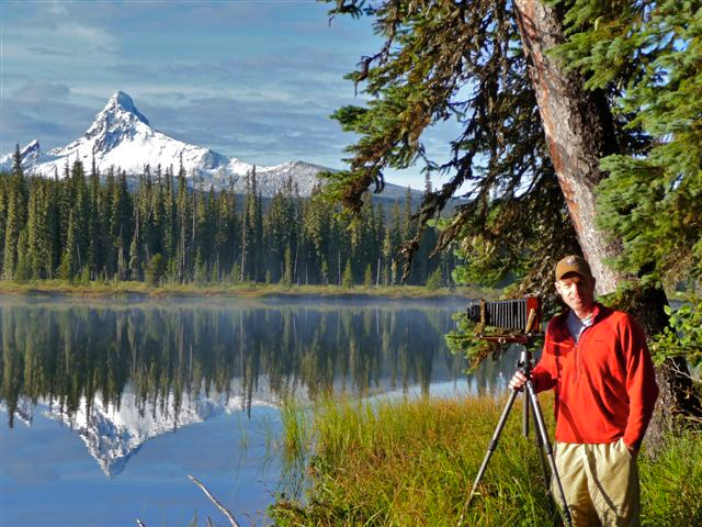 "Me and ""The Big Rig"" at my preferred office, high in the Oregon Cascades. Photo Credit: ""Old Mike"" Croxford"