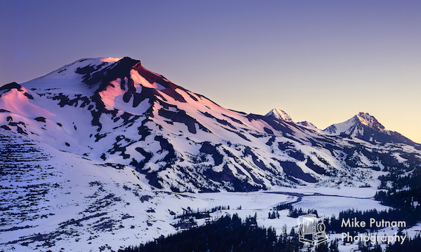 First Light, Oregon's Three Sisters Mountains!