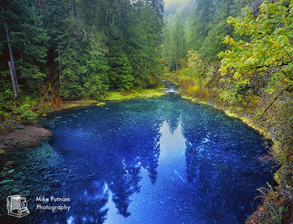 "Oregon's magical Tamolitch Pool, aka, the ""Blue Pool""!"