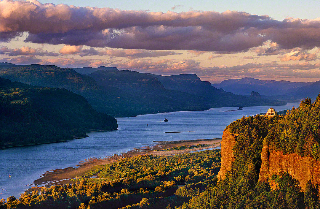 """Columbia River Gorge"", Crown Point and Vista House"
