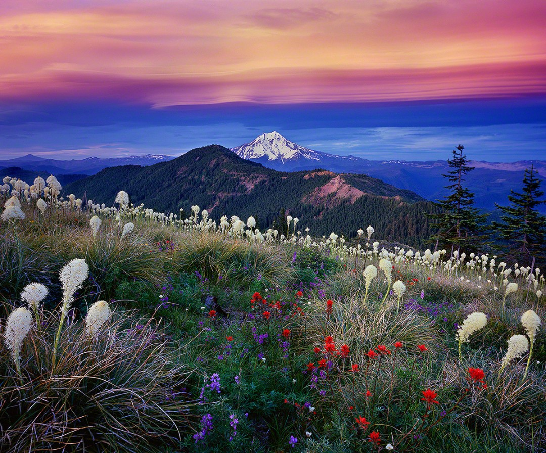 "Mt. Jefferson Sunset, ""Fourth of July"""
