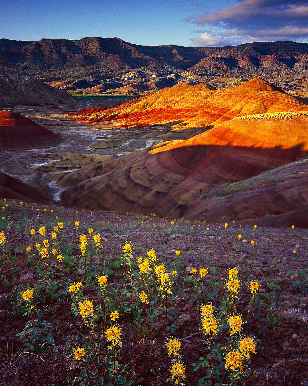 """Painted Hills Sunset"", Eastern Oregon"