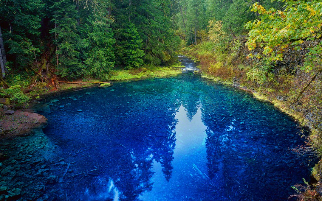 """Tamolitch Pool"", AKA, the Blue Pool, McKenzie River"