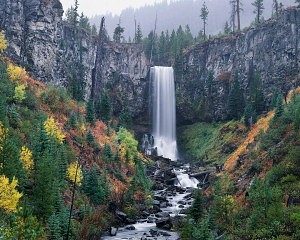 Tumalo Falls in Autumn
