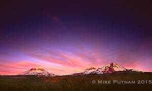 """Morning Glory"" Three Sisters Sunrise."