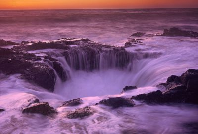 Thor's Well photograph, Oregon Coast