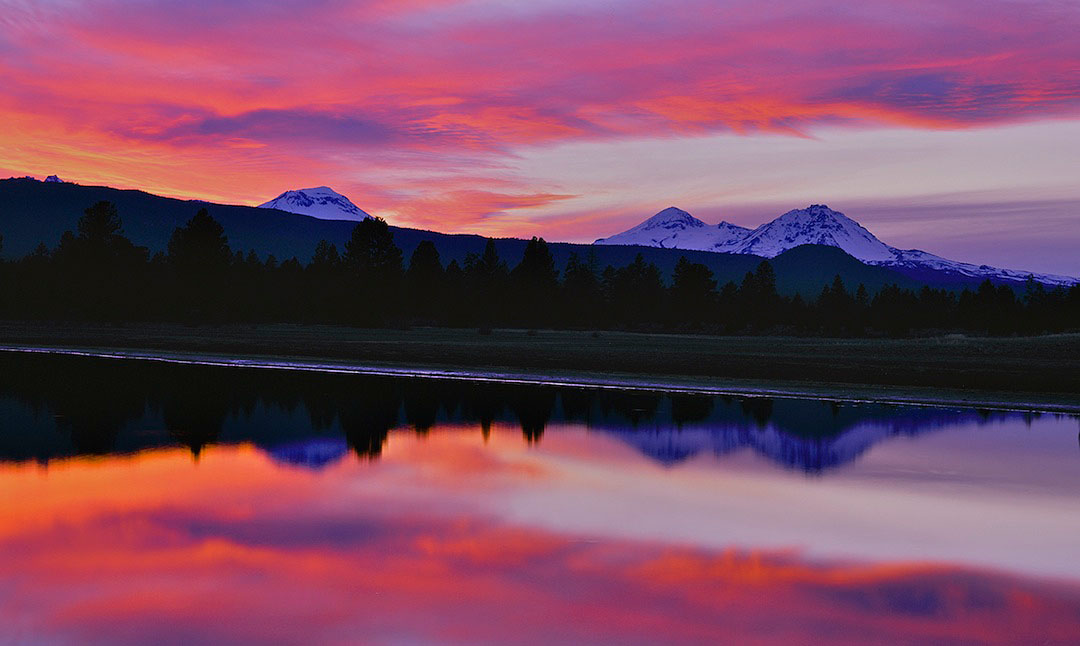"""Three Sisters Reflection"", Tumalo Reservoir"