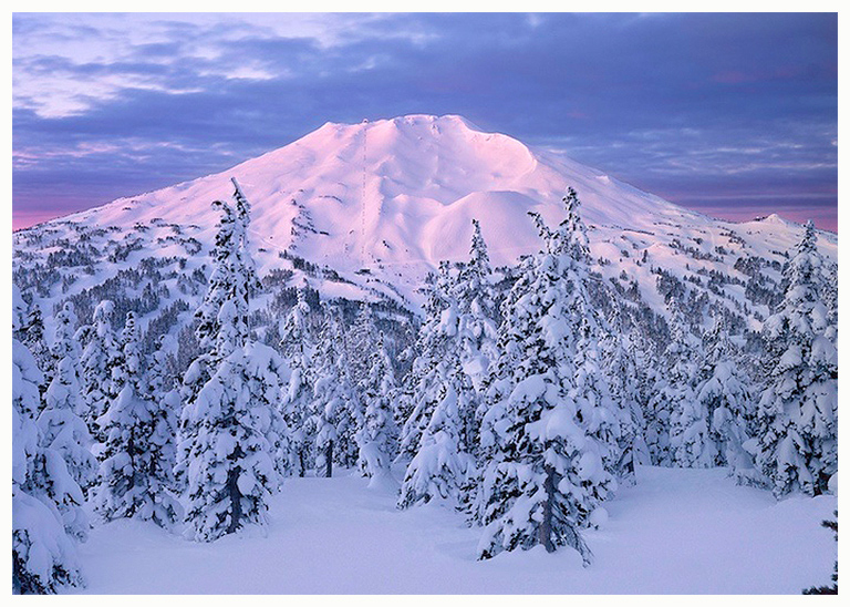 Mt. Bachelor Greeting Cards, the Story behind the Picture.