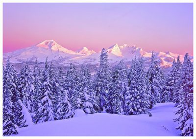 Oregon Cascades Greeting Card