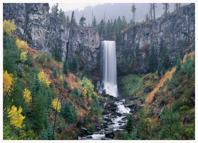 Tumalo Falls Greeting Card