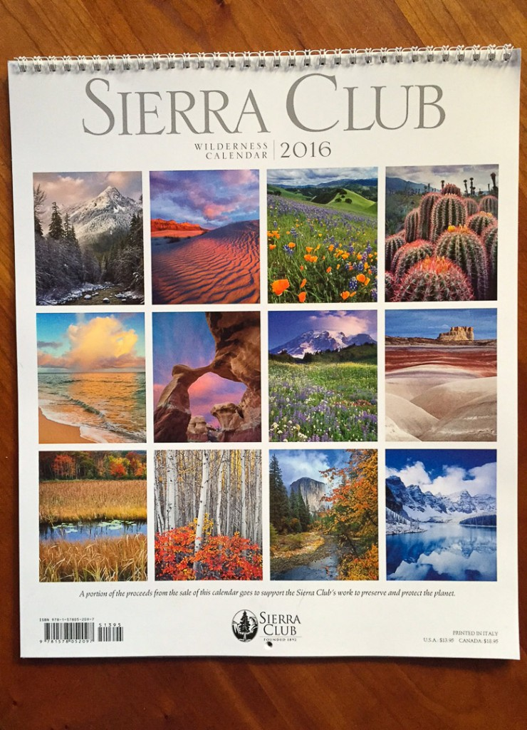 2016 Sierra Club Wilderness Calendar