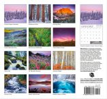 Bend oregon calendar, central oregon wall calendar, back cover, 2017 oregon calendar, landscape photography calendar