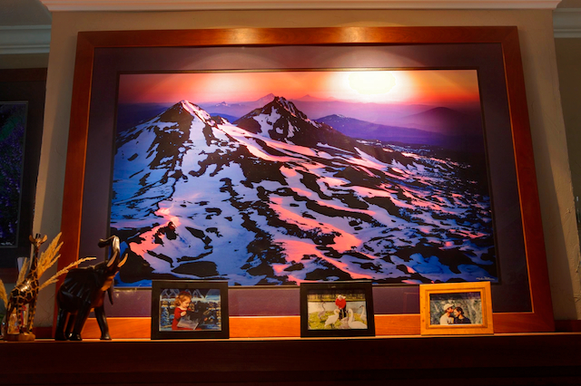 One of My Large Format Landscape photographs framed with the Cherry wood frames that I make by hand in my basement workshop.