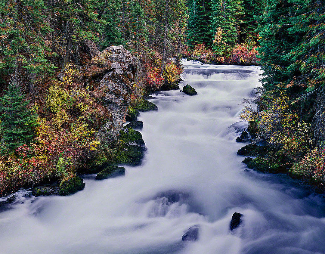 """Benham Falls in Autumn"", Bend, Oregon"
