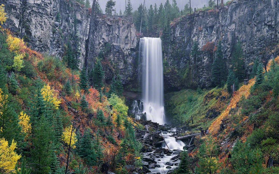 """Tumalo Falls in Autumn"", Bend, Oregon"