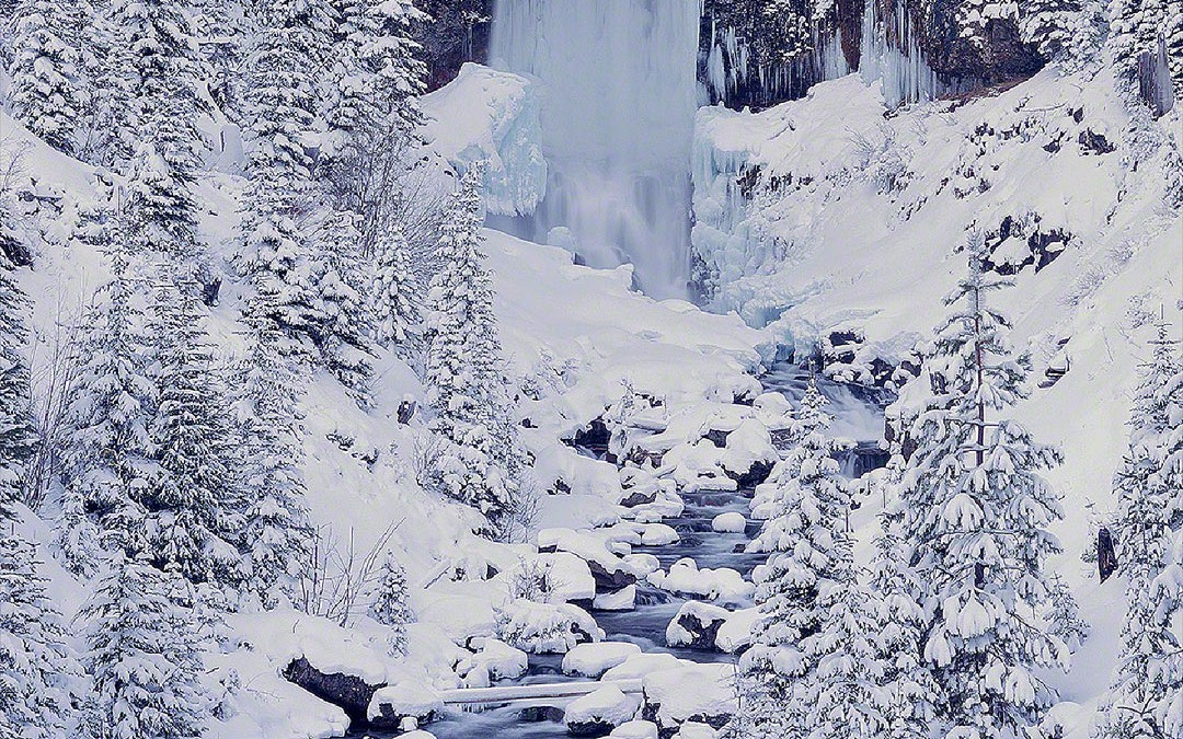 """Tumalo Falls in Winter"", Bend, Oregon"