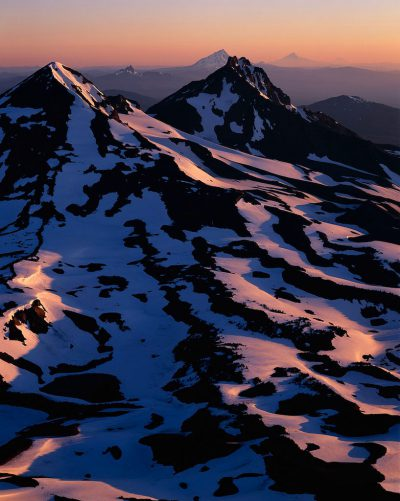 The Central Oregon Cascades as seen from the summit of South Sister