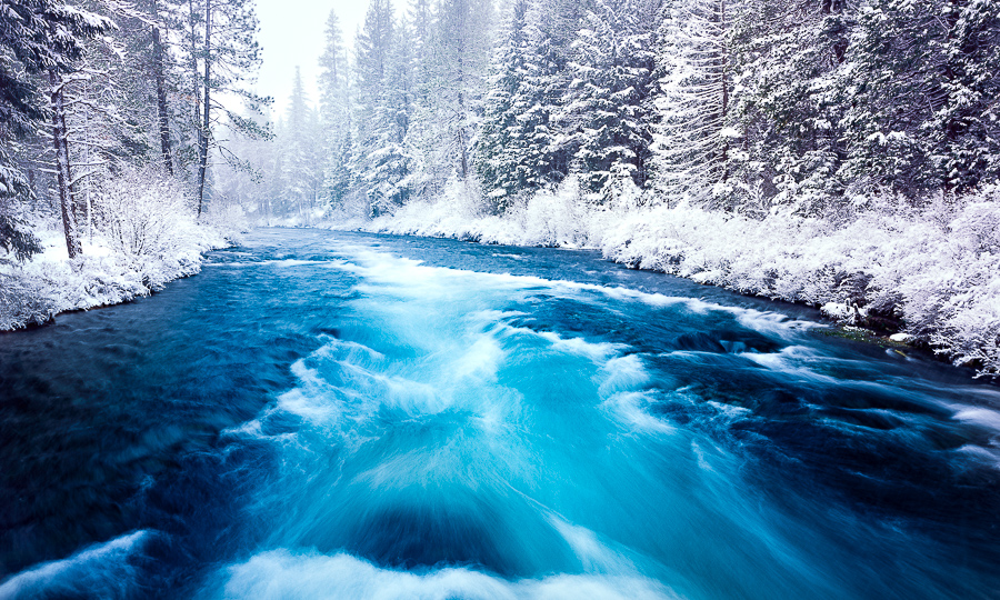 """Metolius River in Winter"""