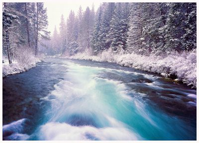 Metolius-River-in-Winter greeting card