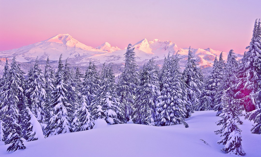 """Oregon Cascades in Winter"", Tumalo Mountain Sunrise"