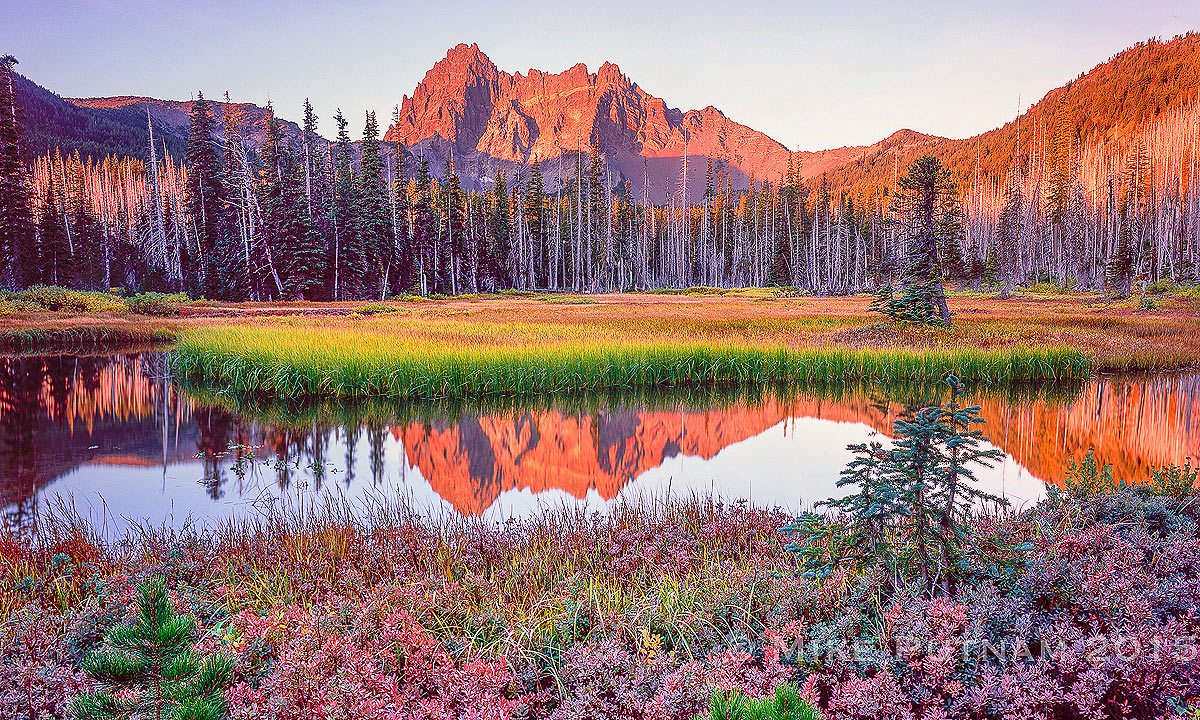 """Autumn Reflection"", Three Fingered Jack"