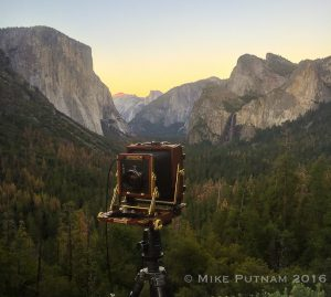 My 4x5 film camera, Yosemite National Park