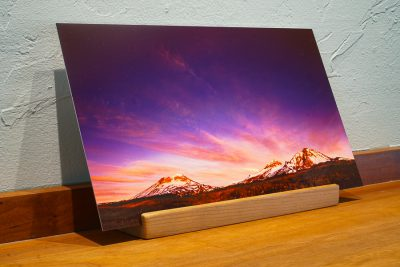 Three Sisters Oregon desk top print