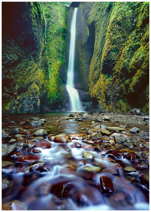 Oneonta Gorge Greeting Card, Note Card, Oneonta Falls, Columbia River Gorge