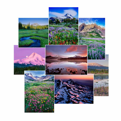 Oregon Mountains Greeting Cards