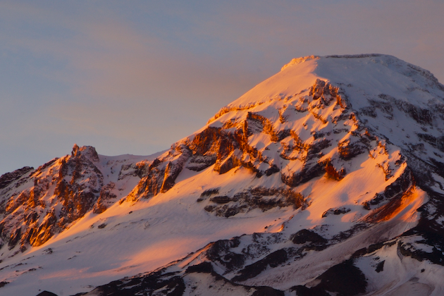 Detail of South Sister at sunrise