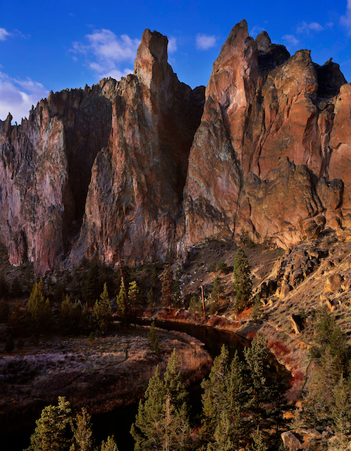 Fine Art photo/picture of Oregon's Smith Rock State Park with the Crooked River in the foreground