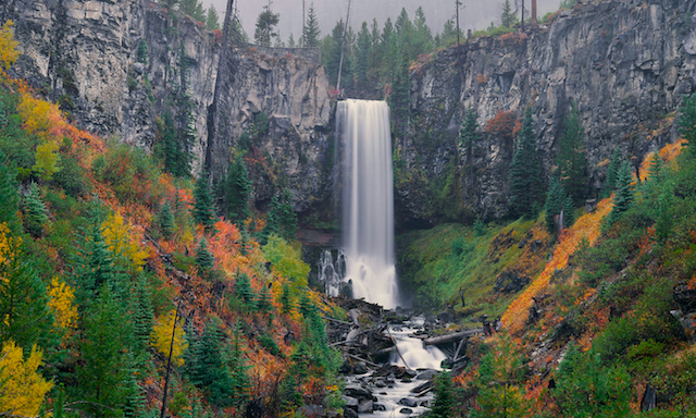 Photo/Picture of Central Oregon's favorite waterfall, Tumalo Falls