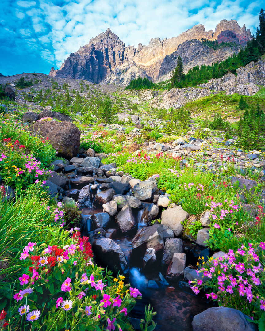 Mountain Stream,Three Fingered Jack Mountain,Oregon Cascades