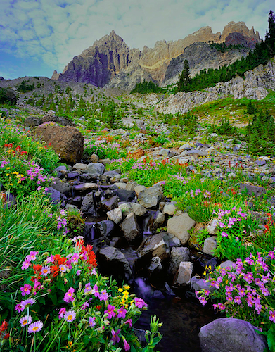Photograph of Three Fingered Jack Mountain in the Central Oregon Cascades.