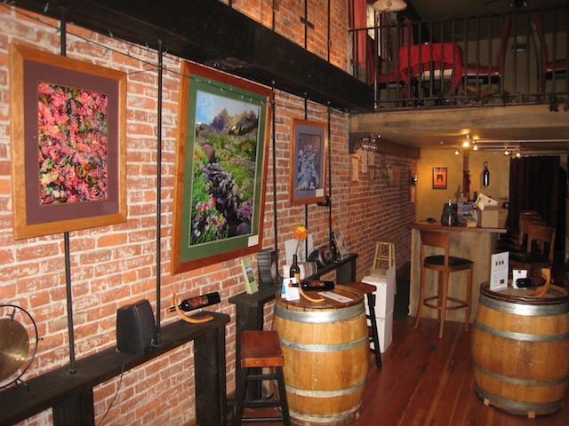 Interior of the Volcano Vineyards Tasting room in Downtown Bend, Oregon
