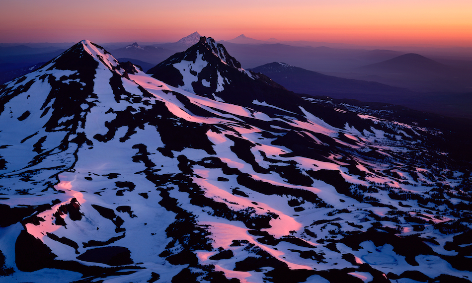Oregon's Cascades at Sunrise
