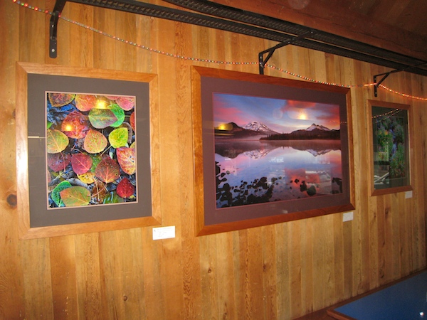 "My ""Art Gallery"" at the depot Cafe in Sisters, Oregon."