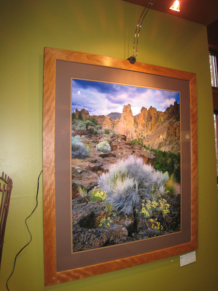Smith Rock Fine Art Print Photograph hanging at the Bellatazza in Sunriver,Oregon
