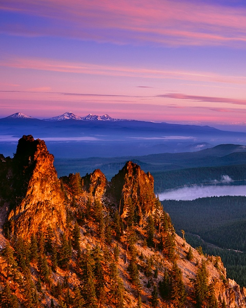 Paulina Peak and the Oregon Cascades