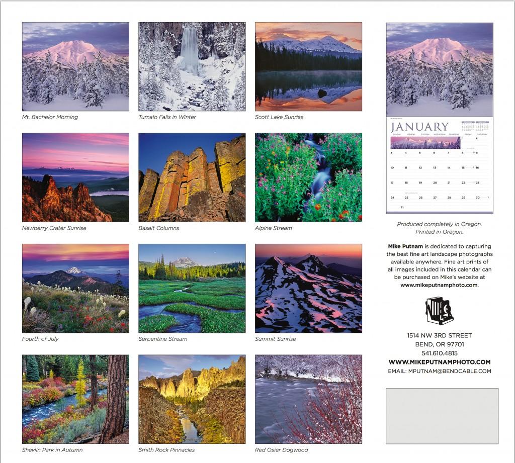 Central Oregon Calendar