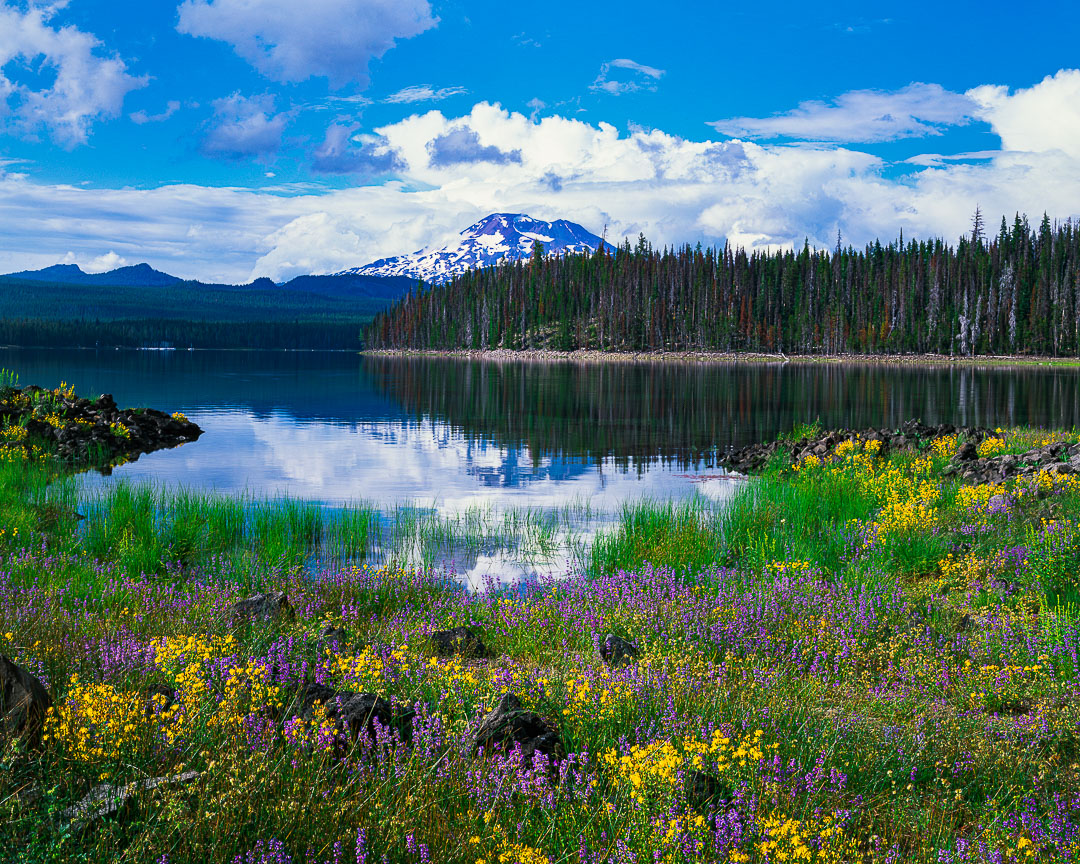 Elk Lake fine art print, photo,cascade lakes highway, south sister