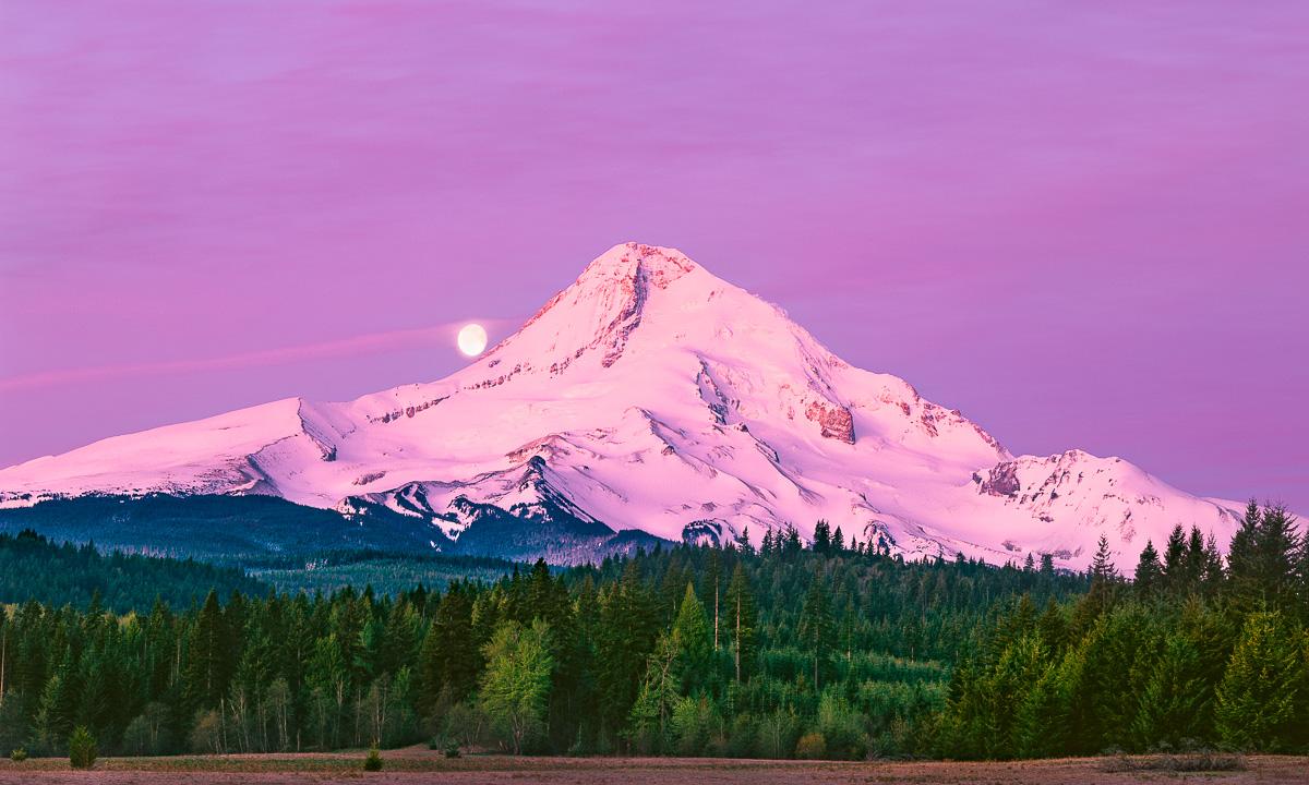 Mt Hood fine art print, landscape photograph, Parkdale Oregon