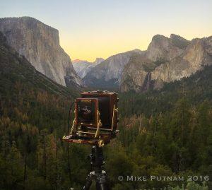 My 4x5 film camera, Yosemite National Park