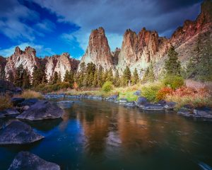 smith rock state park, crooked river