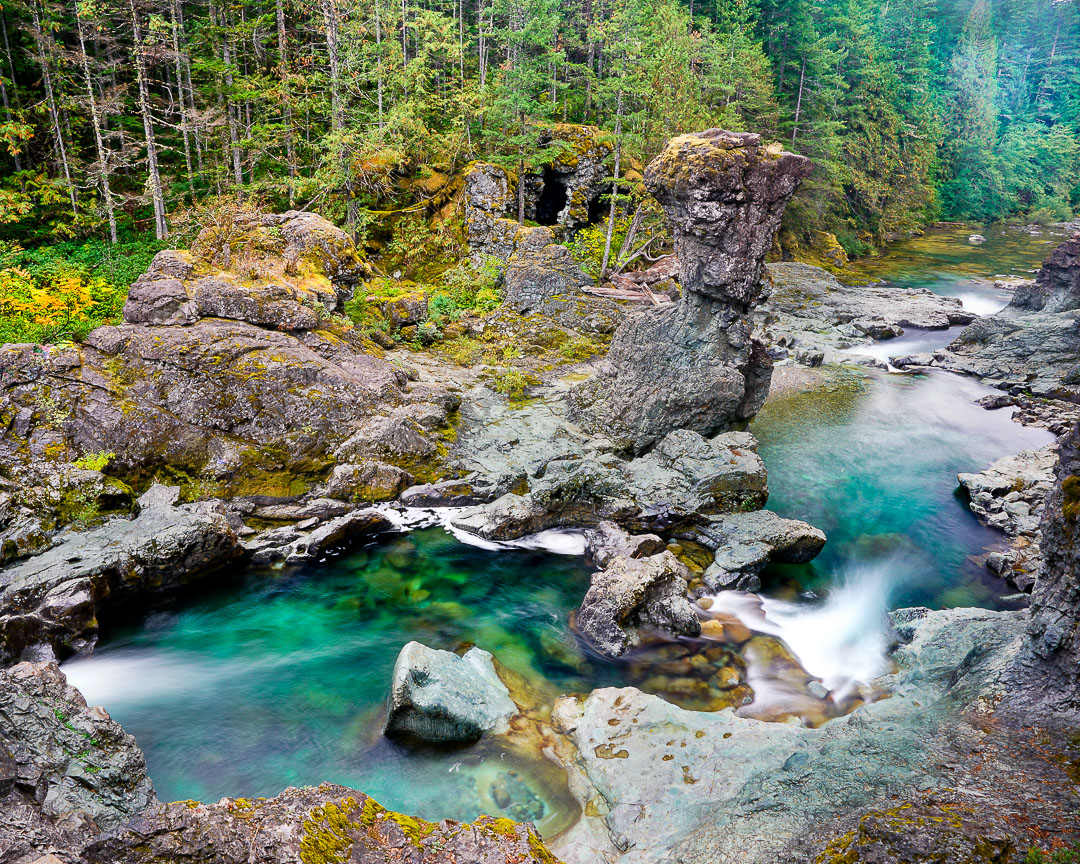 Three Pools swimming area, North Fork Santiam River, Oregon
