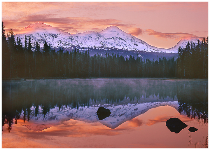 Scott Lake, Three Sisters, Oregon Mountain Greeting Cards