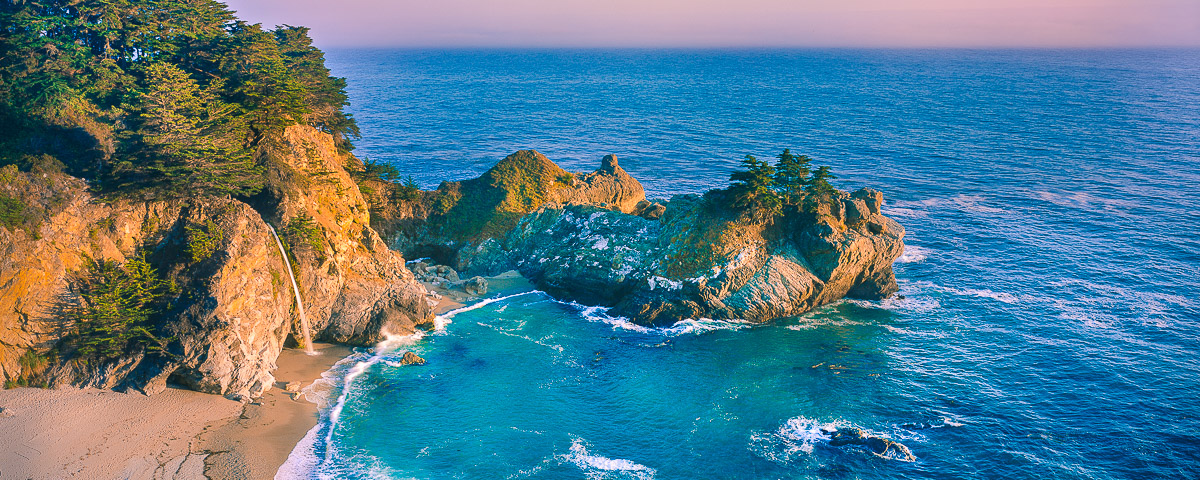 Julia Pfeiffer cove,McWay Falls, Big Sur Panorama,fine art print
