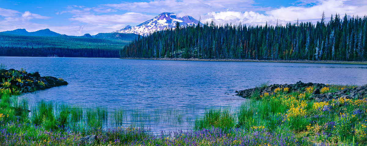 Elk Lake Panorama Fine Art ,Cascade Lakes Scenic Byway