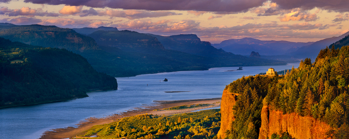 Columbia River Gorge Panorama fine art print, crown point,