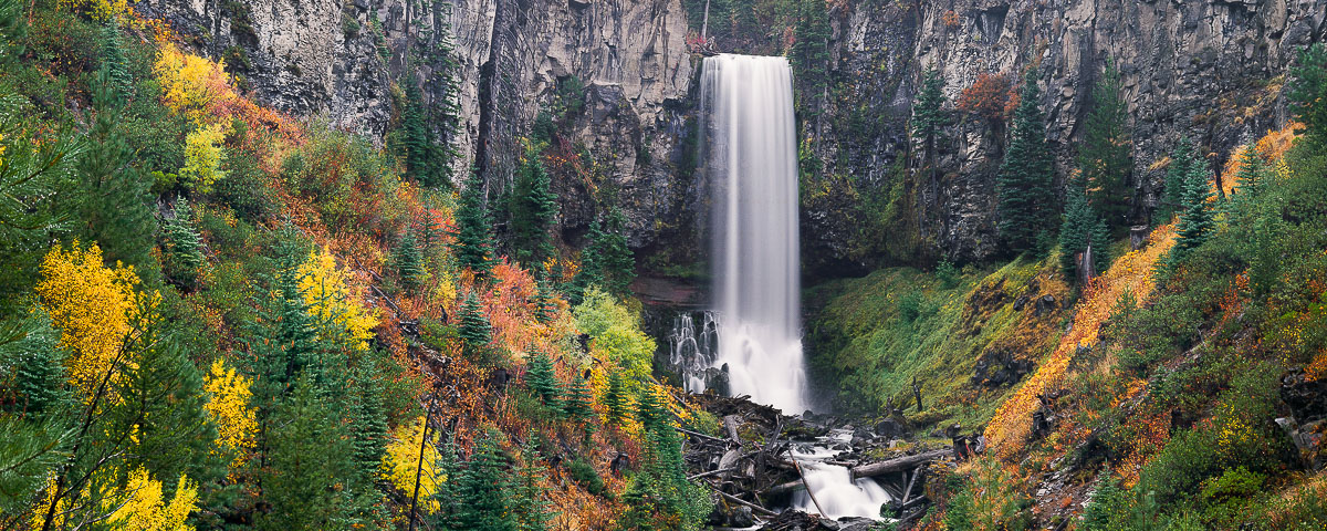 Tumalo Falls in Autumn Panorama fine art print